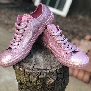 New pink metallic glitter converse